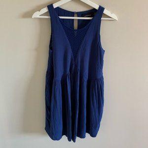 Revolve MINKPINK Blue Sleeveless Mini Dress Mesh